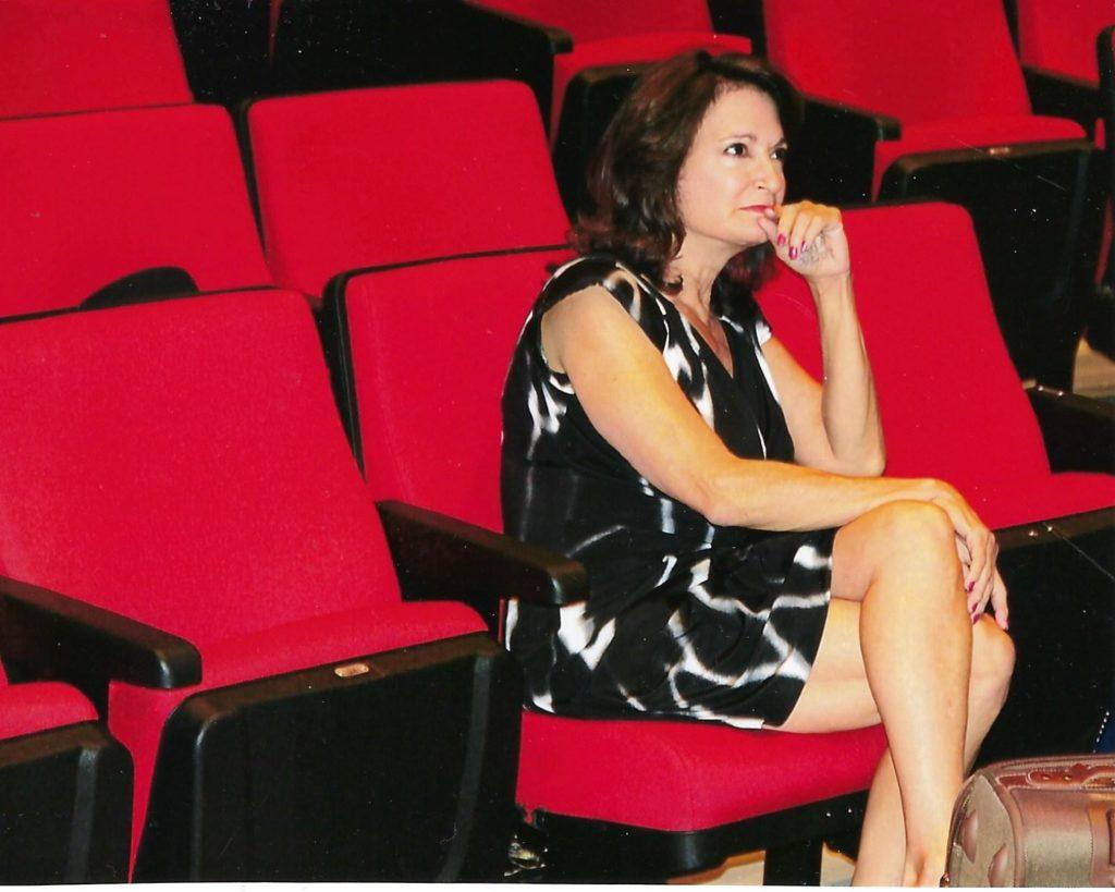 Karen watching one of her musical rehearsals 3-2019